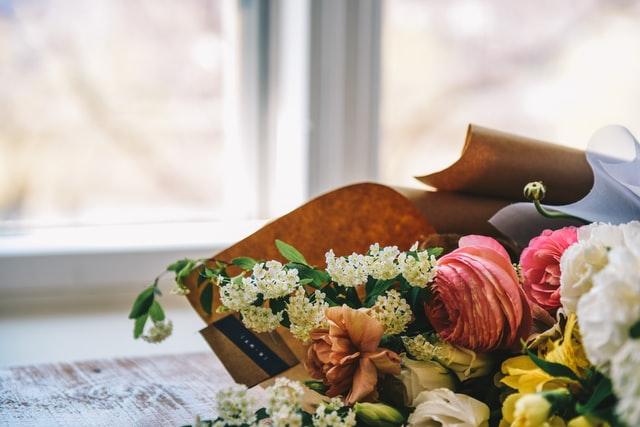 Kwiaty podczas pogrzebu